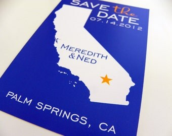 Postcard Map Save the Date Wedding Invitation Engagement Notice State Wedding Map Set of 48 State Map Postcard California Save the Date