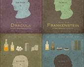 Universal Monsters Series 4-Pack   -  11x17 Movie Posters