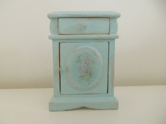 Dolls house miniature cabinet - shabby/country cottage/french chic