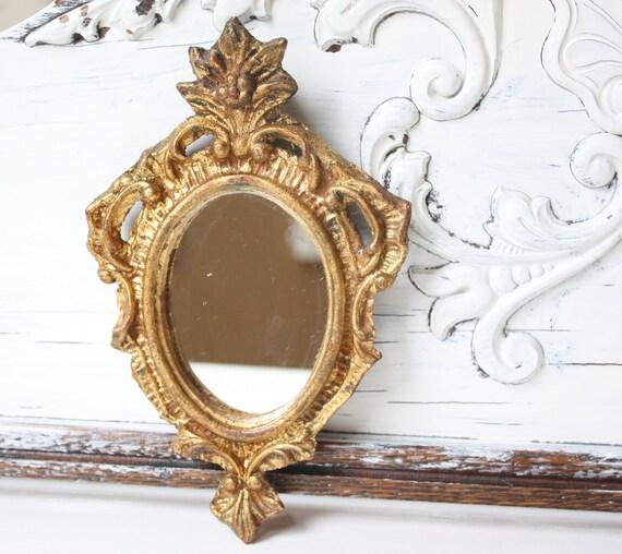 Hollywood Regency Gold Framed Wall Mirror