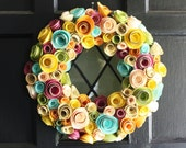 Paper Flower Wreath- Multi-Color