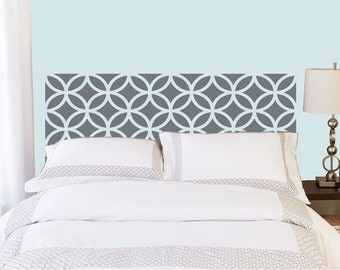 Overlapping Circles Headboard decal  - Vinyl wall sticker decal - circles pattern
