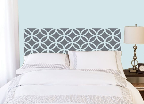 Overlapping Circles Headboard decal  | Vinyl wall sticker decal | circles pattern | Bedroom Decor | FREE SHIPPING