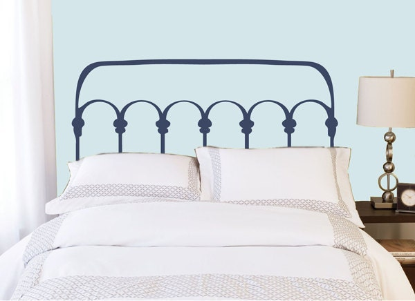 Wrought Iron Style Headboard Decal Vinyl Wall Sticker Decal