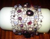 knitted wire bracelt