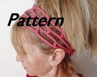 Crochet Trellis Headband Pattern  Instant Download