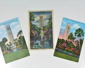 Singing Tower Mountain Lake Sanctuary Florida Postcards - Set of 3