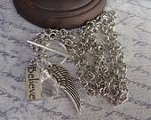 Free Shipping - On Angel's Wings Charm Necklace