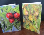 Two Notecards From Original Oil Paintings