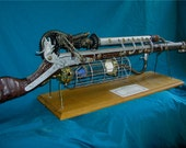 Amazing Steampunk Plutonic Cored  Rifle with Stand