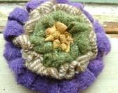 the purple chevron brooch