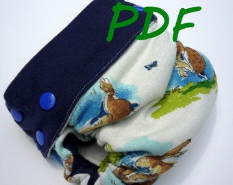 Monkey Folds Fitted Diaper and Cover Pattern, PDF
