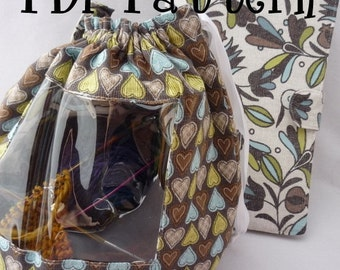 Vinduaga WIP Bag AND Pattern Saver, Two PDF Sewing Patterns