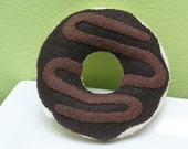 Felt CHOCOLATE DONUT- Pretend Food Play Food - 1 Felt Donut