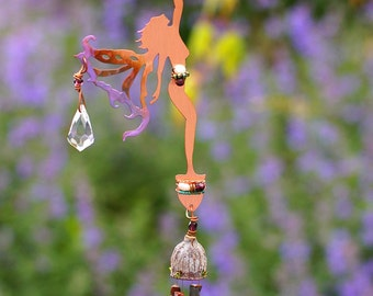 Wind Chime & Sun Catcher -  Spring Time Star Reaching Fairy