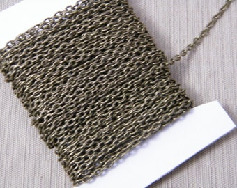 10ft Spool Antiqued Bronze Textured Cable Chain 4x3mm