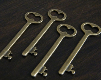 Shelley - 10 x Antique Bronze Brass Skeleton Key Vintage Keys
