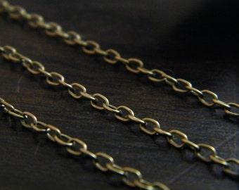 10ft Spool Antique Brass Bronze Cross Chain 3x2mm - A
