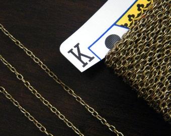 40ft Spool Antique Brass Bronze Cross Chain 3x2mm - A
