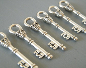 Christie - Skeleton Keys - 10 x Antique Silver Vintage Keys Skeleton Keys Key Set