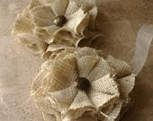 Light Color Burlap Magnetic Tie Backs Flowers