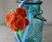 "Aqua and Orange ""Blossom"" Headband"