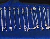 Set of 12 Blythe Doll Necklaces in Silver Colour