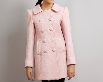 Last One - Ready to ship - BLACK SWAN Natalie Portman's Pink Coat Nina Sayers wool winter limited edition S