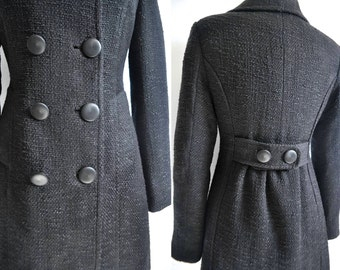 BLACK SWAN Boucle Tweed Coat S M L Custom - Made to order