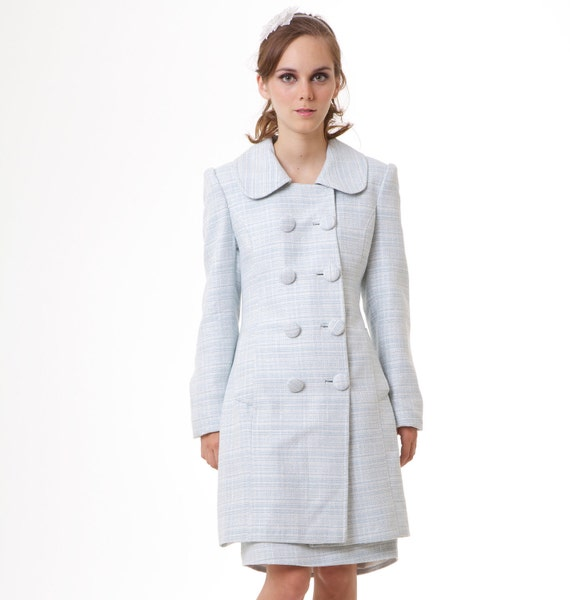 Ready to ship BLACK SWAN Natalie Portman's baby blue Spring coat pastels limited edition XS S M L custom