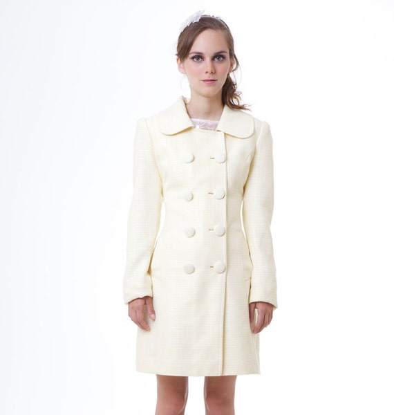 Ready to ship BLACK SWAN Natalie Portman's pale yellow Spring coat pastels limited edition XS S M L custom