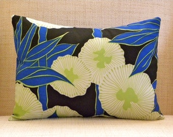 Throw Pillow Cover - Vintage Mod Morning Glories - 12 x 16