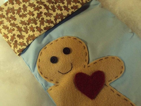 Heart of Christmas Gingerbread Stocking