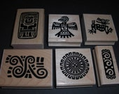 Incan Designs Wood Mounted Rubber Stamps