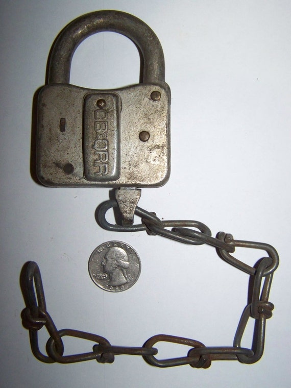 Vintage Railroad Padlock No Key CB QRR