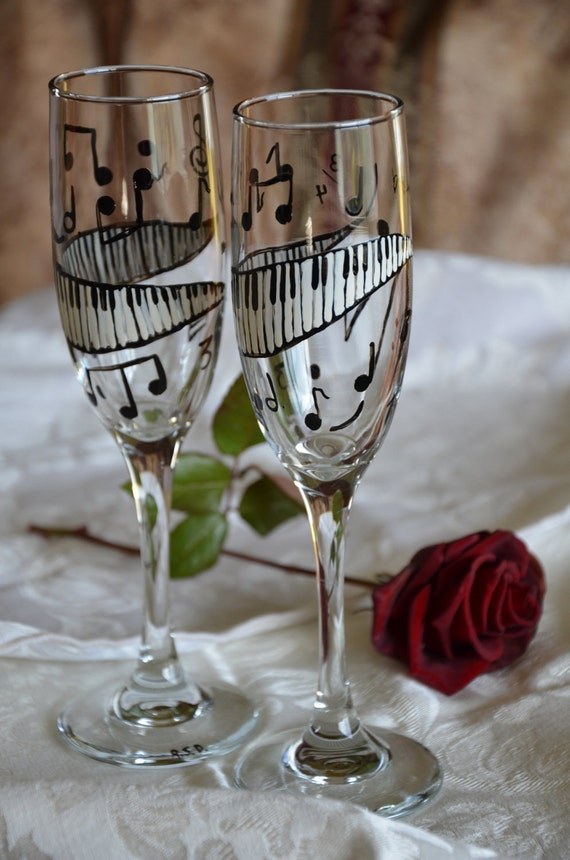 Symphony Handpainted Champagne Flute Pair