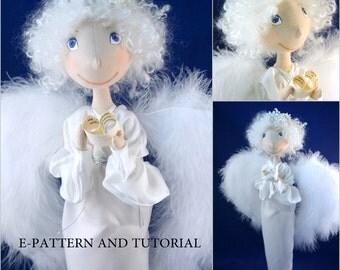 Cloth Doll Sewing Pattern & Tutorial Angel PDF DIY