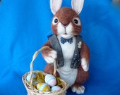 Reserved for Cheryl Easter Bunny, Peter Rabbit, Peter Cottontail, OOAK,