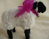 Needl Felted Collectible ,Lamb Sheep, OOAK