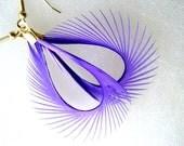 Feather Earrings - Spiky Purple Biots