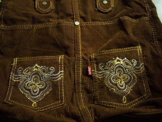 Levi's Corduroy Brown Handbag, Purse, Bag