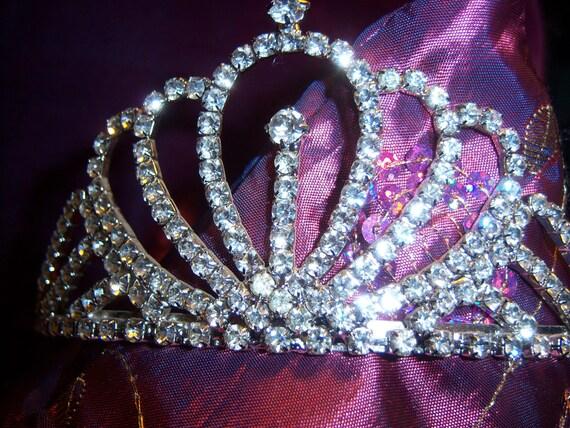 Reserved for DEBBIE...Vintage Rhinestone Tiara Crown Wedding Prom