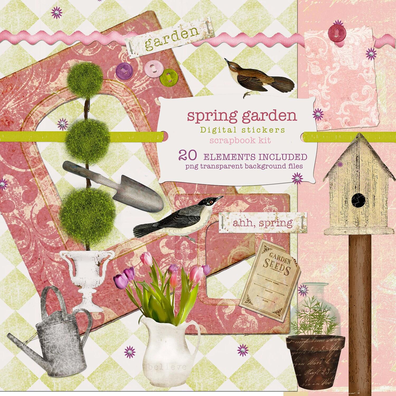 spring garden scrapbooking kit