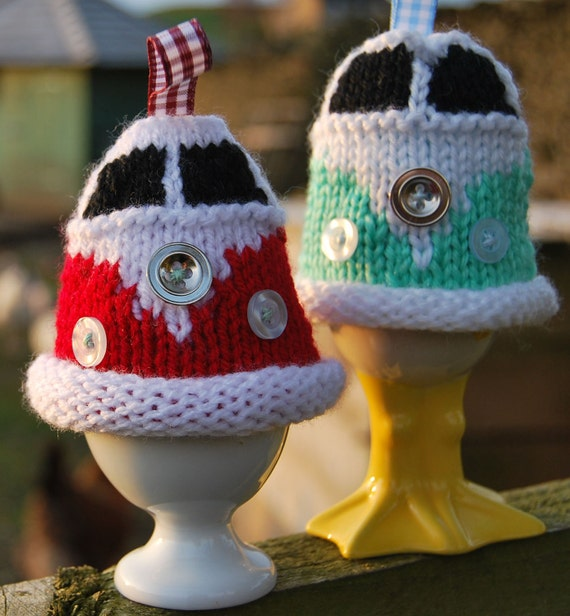 Vw Campervan Knitting Pattern : Knitting Pattern Knit a Campervan Egg Cosy VW Bus Kombi