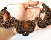 Shades of Brown Soutache Necklace  - NO SHIPPING COST