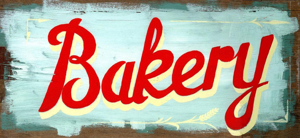 Vintage Bakery Sign 120