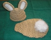Bunny Cuddle Cape and Hat, Newborn Photography Prop - TupeloHoneys