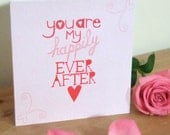 Happily Ever After - Illustrated Valentine's card.
