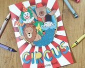 Circus Colouring Book by Pencils Paper Scissors Collective