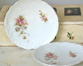 Pretty vintage floral scalloped edged plates
